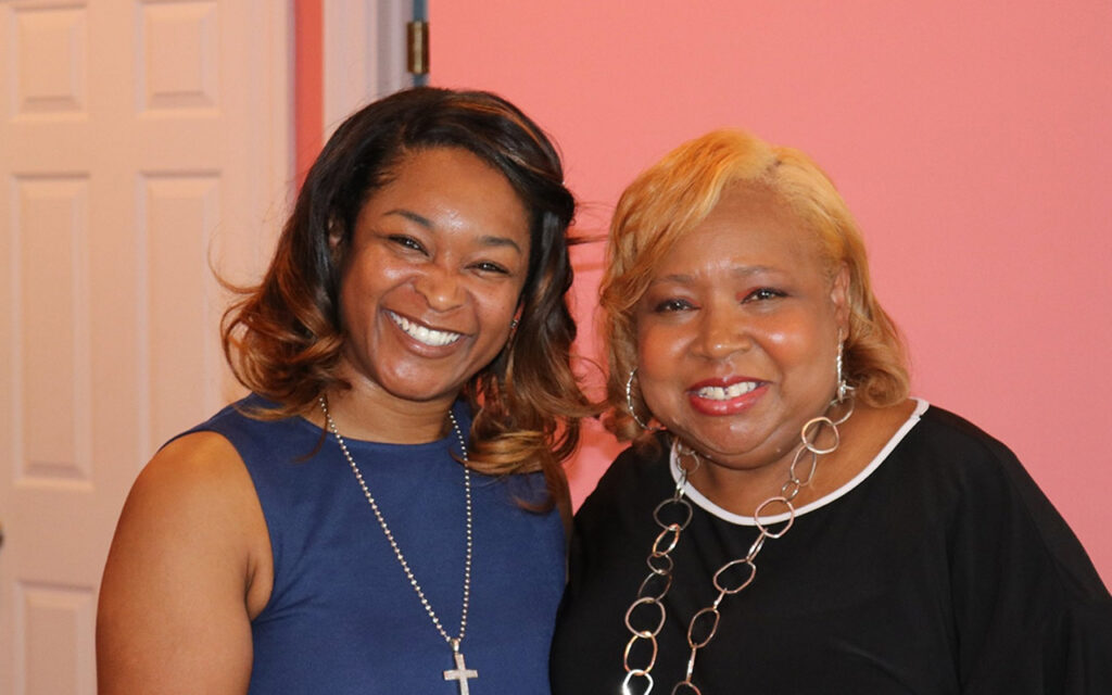 Michelle Mosby, HMHY and Grace Washington, JG Workforce Development