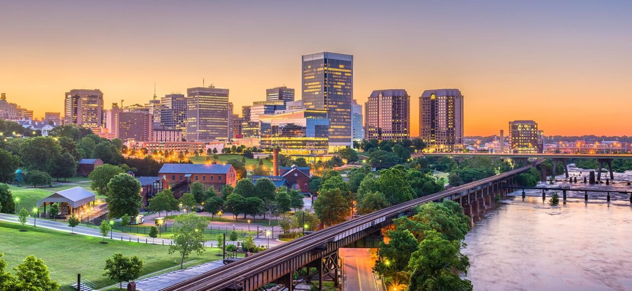 Richmond, Virginia (RVA) development skyline
