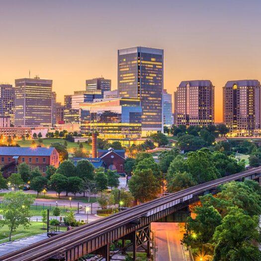 Richmond, Virginia (RVA) development skyline