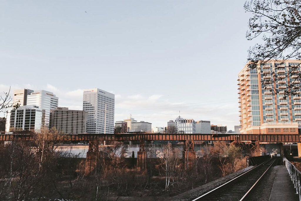 Train tracks in Richmond, VA (RVA)