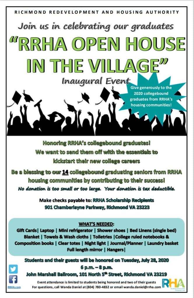 RRHA Open House in The Village flyer