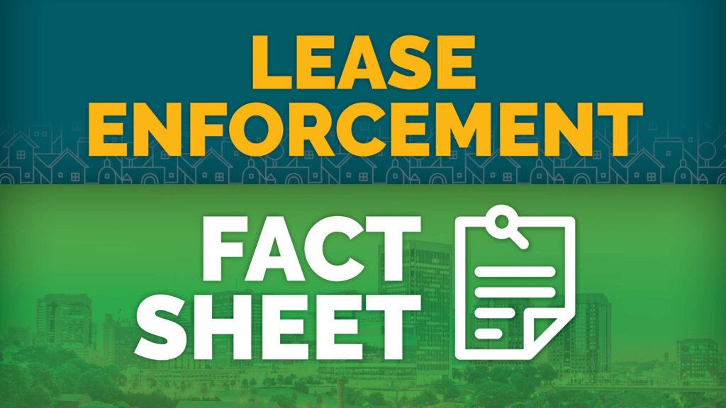 RRHA's lease enforcement fact sheet