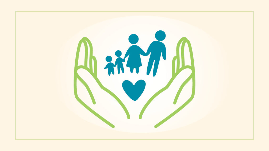 Helping hands, family